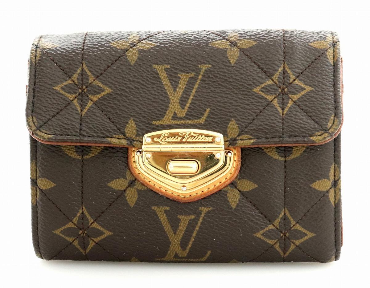 【財布】LOUIS VUITTON ルイ ヴィトン モノグラム エトワール ポルトフォイユ コンパクト 2つ折財布 イニシャル入り M63799 【中古】【k】