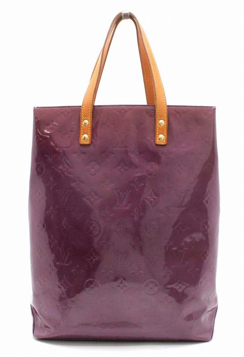 【バッグ】LOUIS VUITTON ルイ ヴィトン ヴェルニ リードMM トートバッグ パープル 紫 M91087 【中古】【k】
