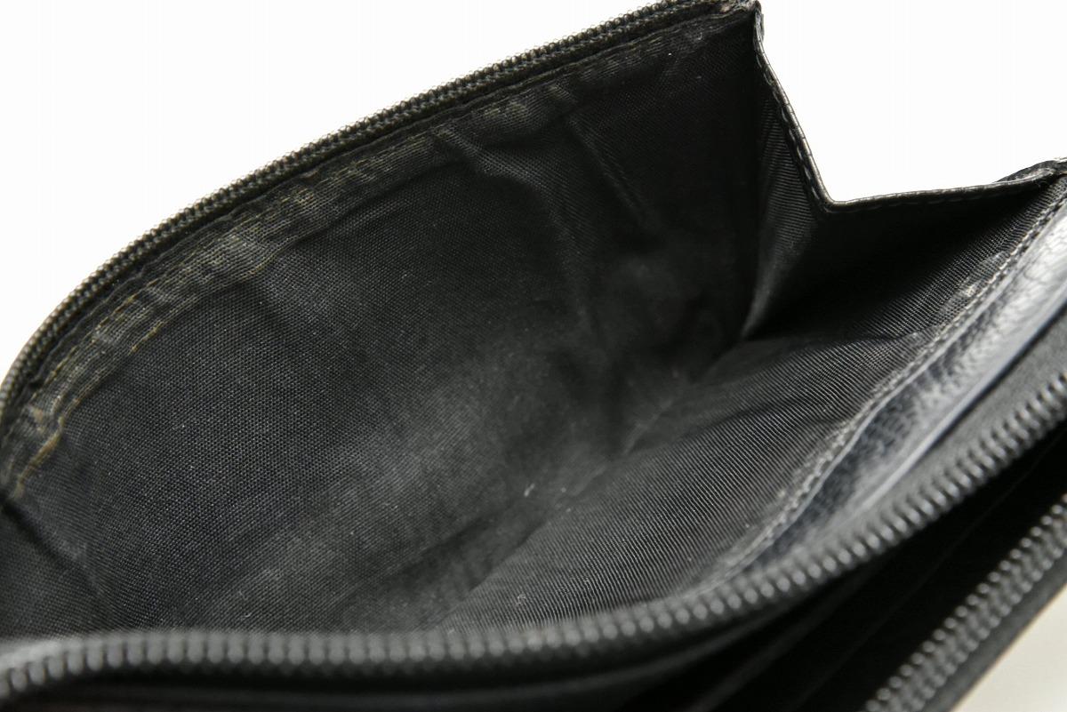 【財布】CHANELシャネルキャビアスキンココマークラウンドファスナー長財布レザー黒ブラックゴールド金具【】【k】