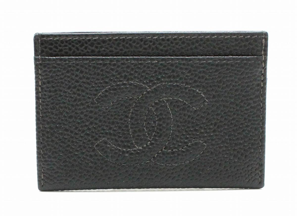 CHANEL シャネル ココマーク キャビアスキン カードケース 名刺入れ 黒 ブラック A48665 【中古】【k】
