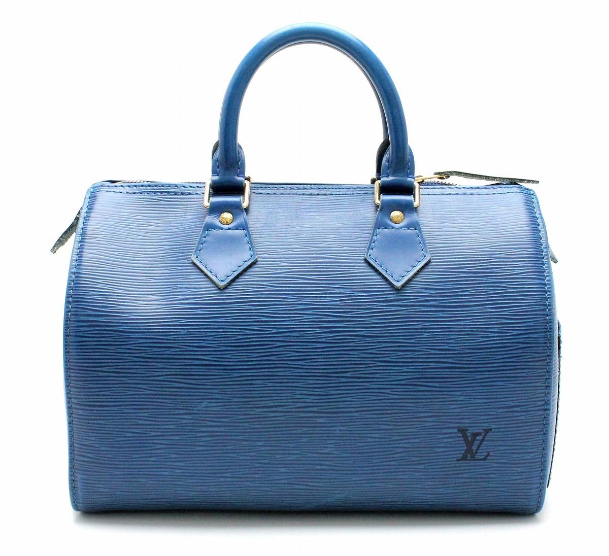 【バッグ】LOUIS VUITTON ルイ ヴィトン エピ スピーディ25 ハンドバッグ ミニボストンバッグ レザー トレドブルー 青 M43015 【中古】【k】