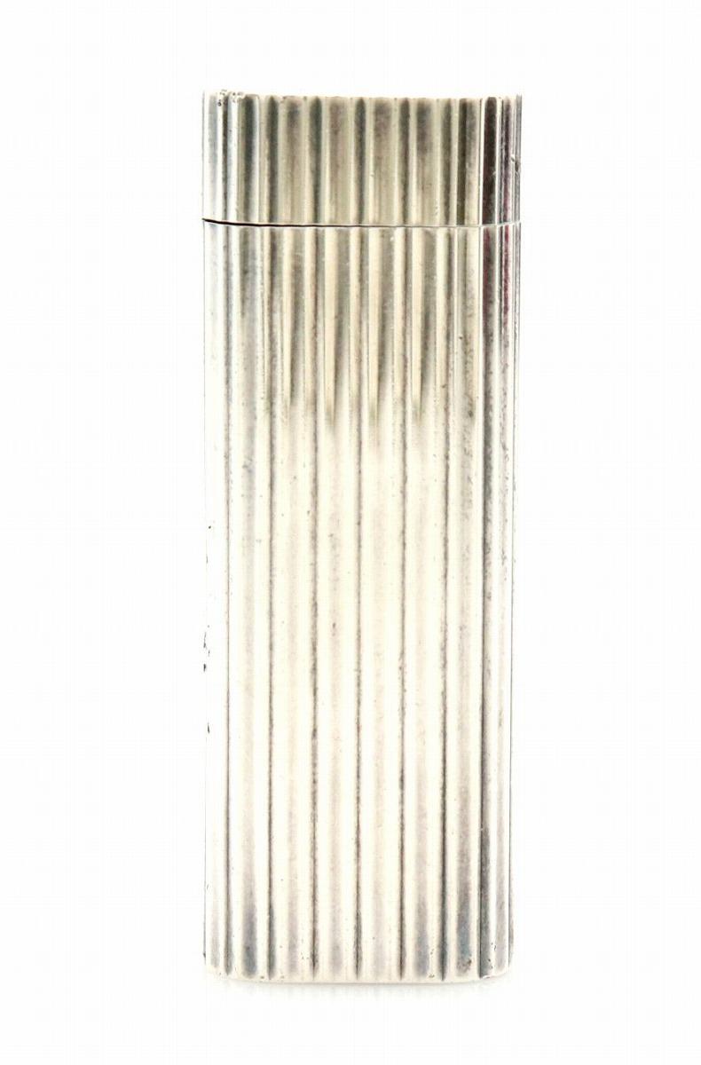 Cartier カルティエ ガスライター ゴドロン モチーフ プラチナフィニッシュ シルバー 【中古】【k】