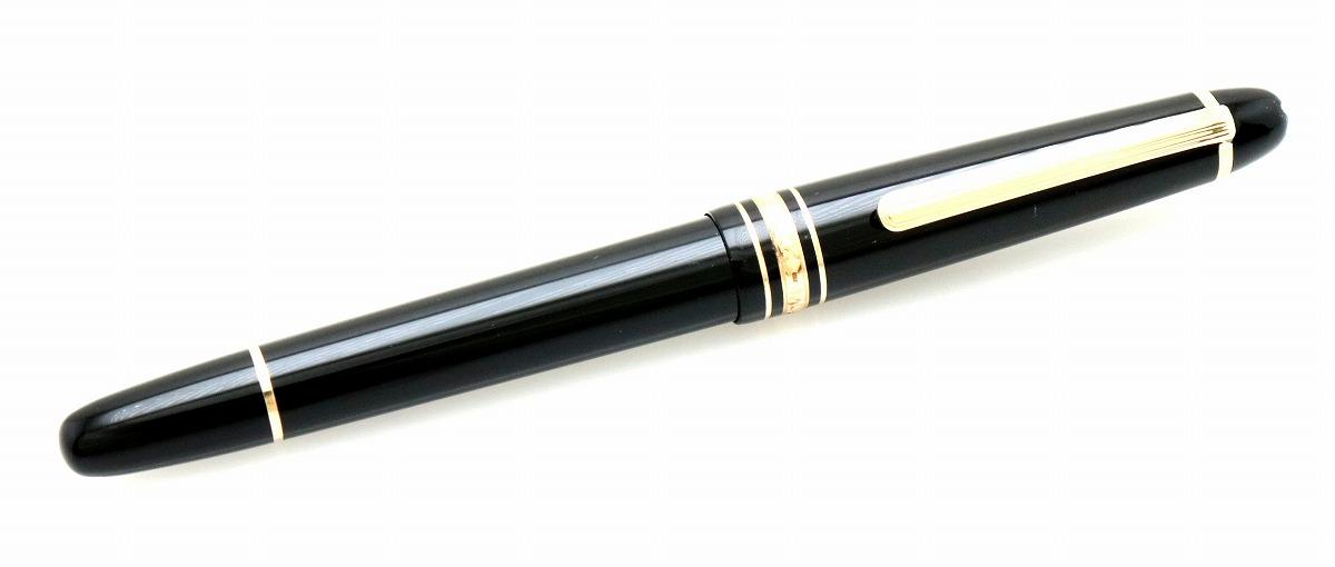MONTBLANC モンブラン 万年筆 マイスターシュテュック ペン先14K 黒 ブラック ゴールド インクなし 【中古】【k】