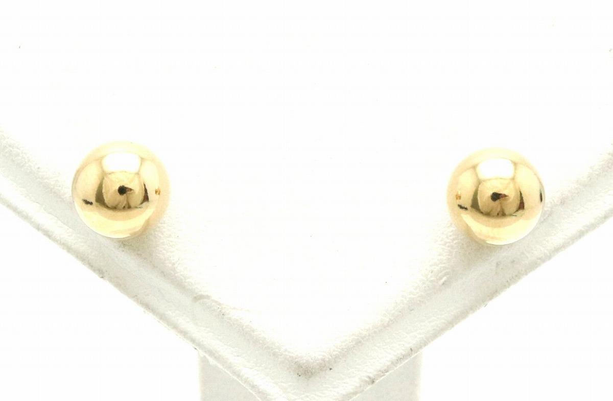 【ジュエリー】TIFFANY&Co. ティファニー ボール ピアス K18YG 750 イエローゴールド 【中古】【k】