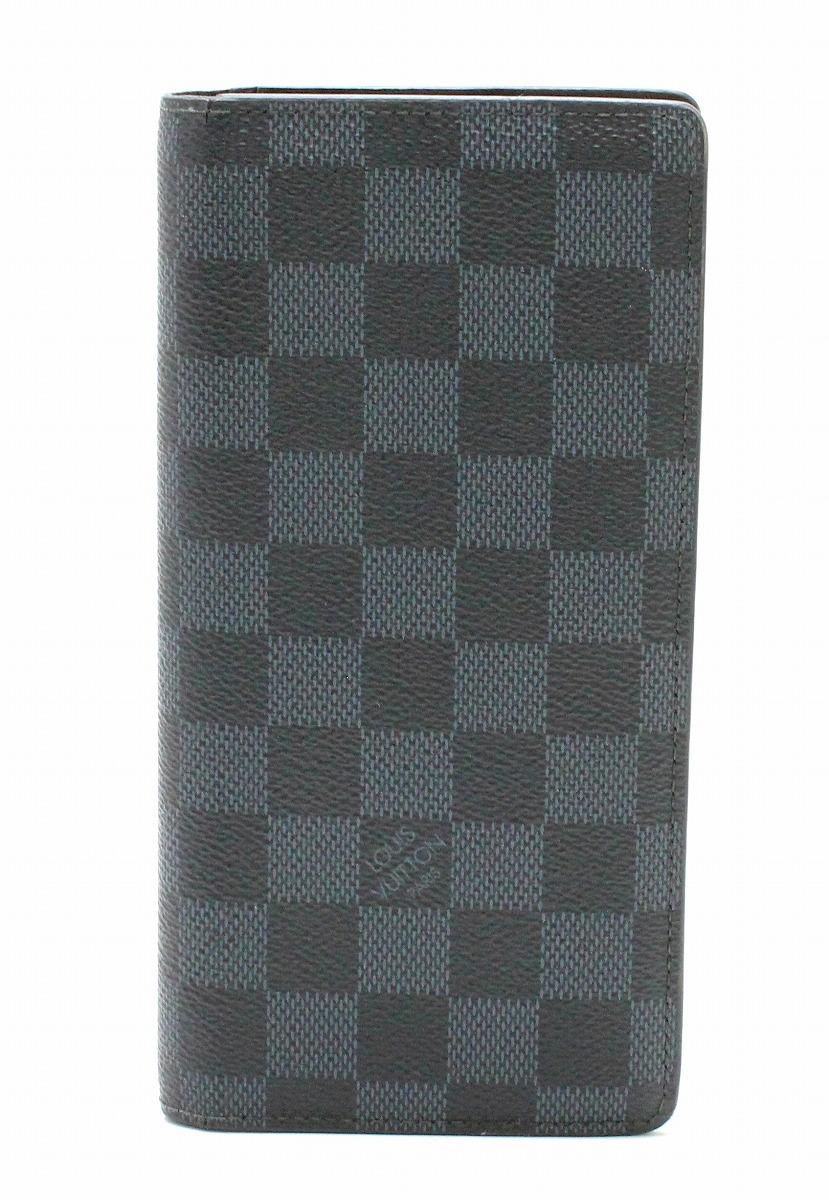 【財布】LOUIS VUITTON ルイ ヴィトン ダミエコバルト ポルトフォイユ ブラザ 2つ折長財布 N63212 【中古】【k】