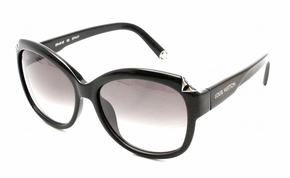 f5525b54cc Image is loading LOUIS-VUITTON-Hortensia-cat-eye-sunglasses-glitter-smoke-