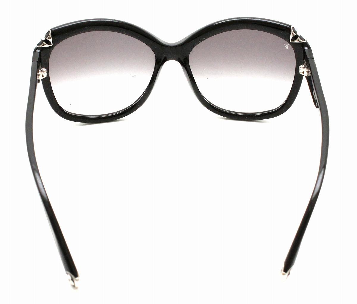 a796c496369fd LOUIS VUITTON Hortensia cat-eye sunglasses glitter smoke 5717 Z0485E ...