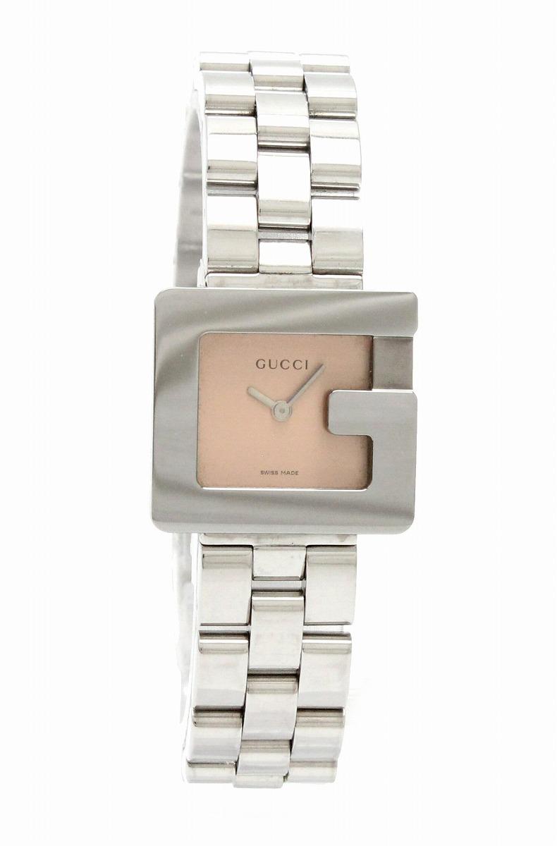 【ウォッチ】GUCCI グッチ Gモチーフ Gロゴ ピンク文字盤 レディース QZ クォーツ 腕時計 3600L 【k】