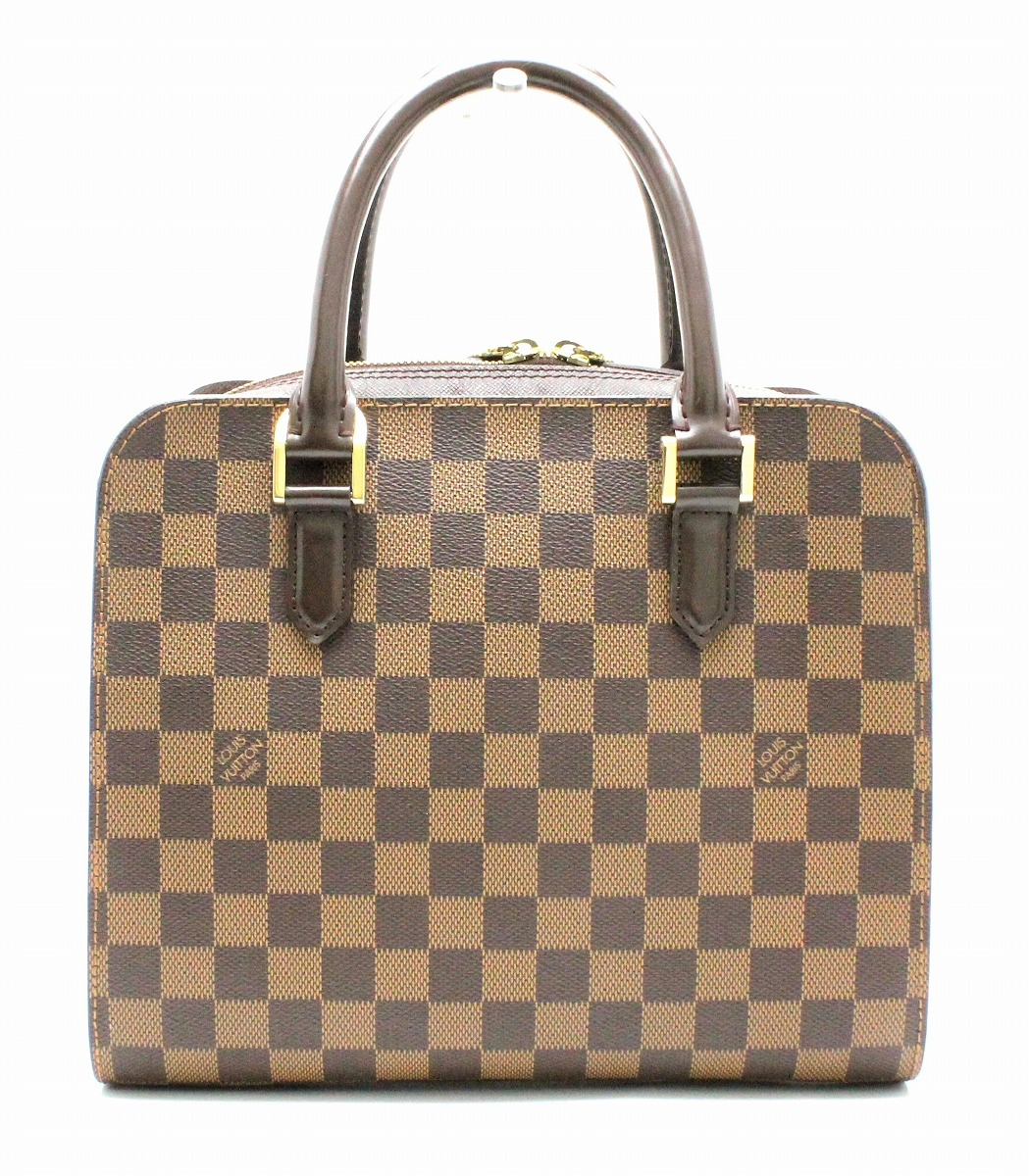 【バッグ】LOUIS VUITTON ルイ ヴィトン ダミエ トリアナ ハンドバッグ スクエア型 N51155 【中古】【k】