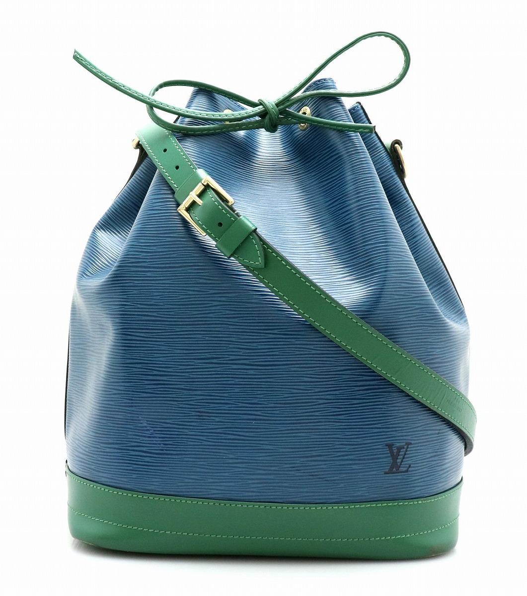 【バッグ】LOUIS VUITTON ルイ ヴィトン エピ バイカラー ノエ 巾着型 ショルダーバッグ ワンショルダー レザー トレドブルー ボルネオグリーン 青 緑 M44044 【中古】【k】