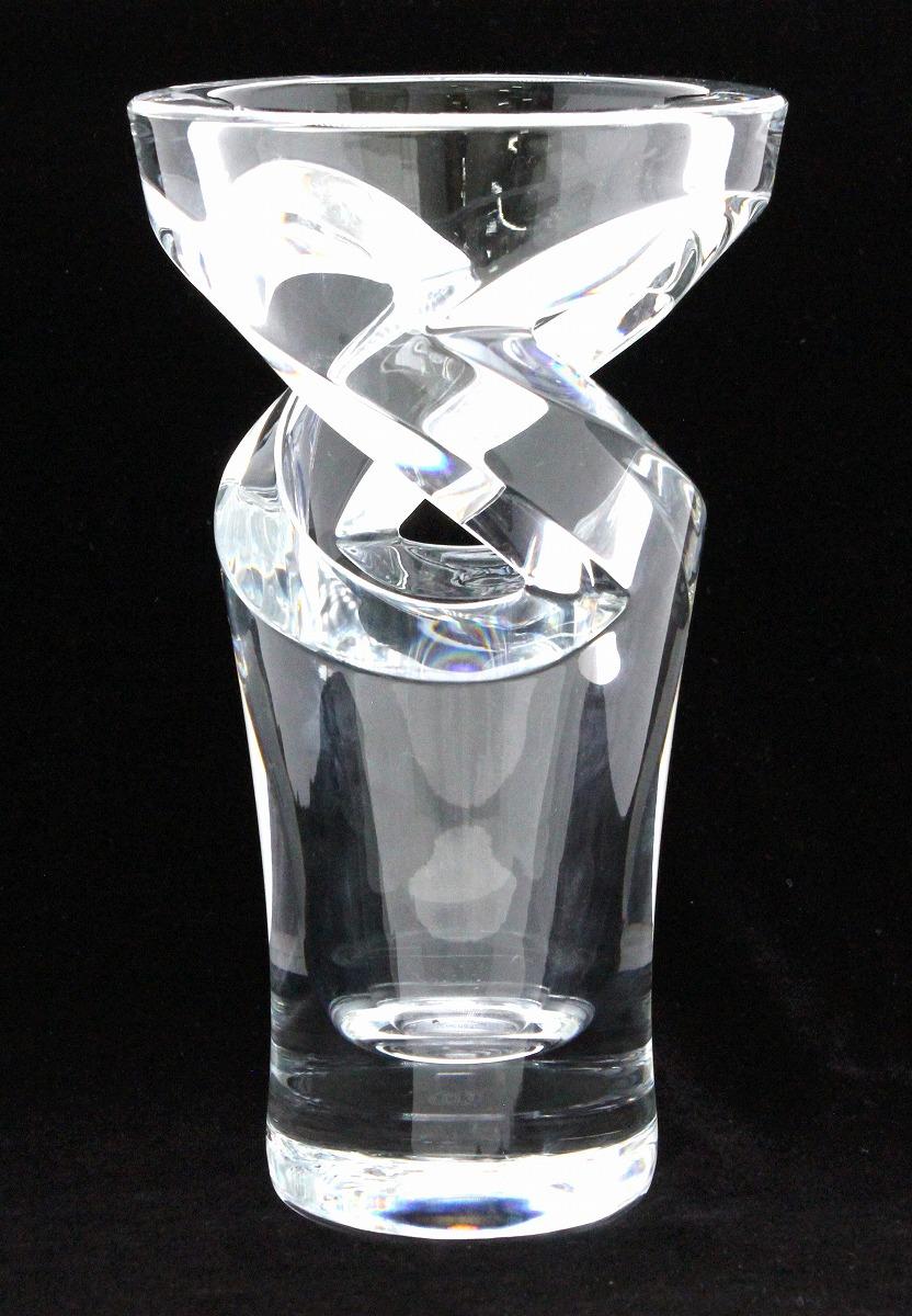 Baccarat バカラ トルネード 花瓶 花びん クリア クリスタル ガラス 丸型 オブジェ 【中古】【k】