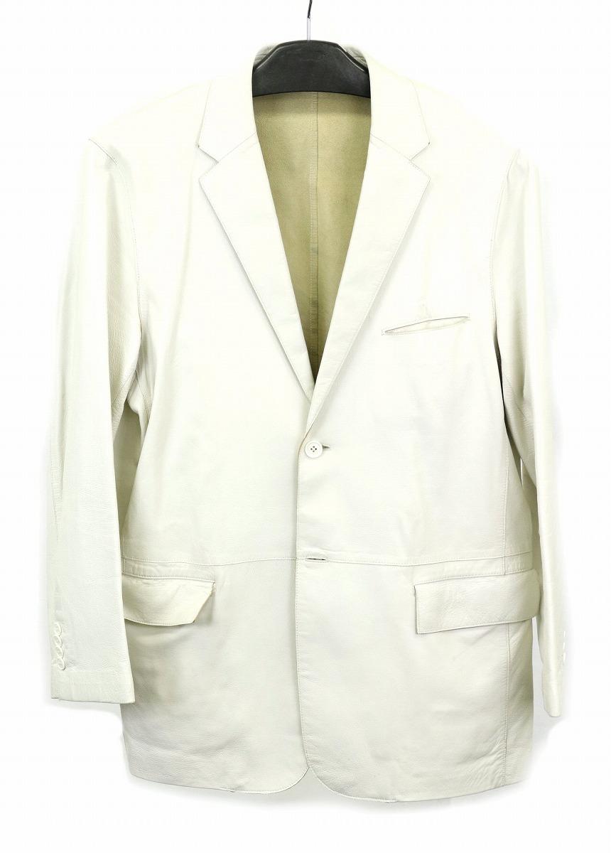【アパレル】Theory セオリー レディース アウター ジャケット サイズ42 レザー ホワイト 白 【中古】【k】