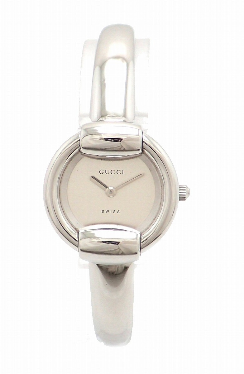 【ウォッチ】GUCCI グッチ シルバー文字盤 SS Rサイズ レディース QZ クォーツ 腕時計 1400L 【中古】【k】