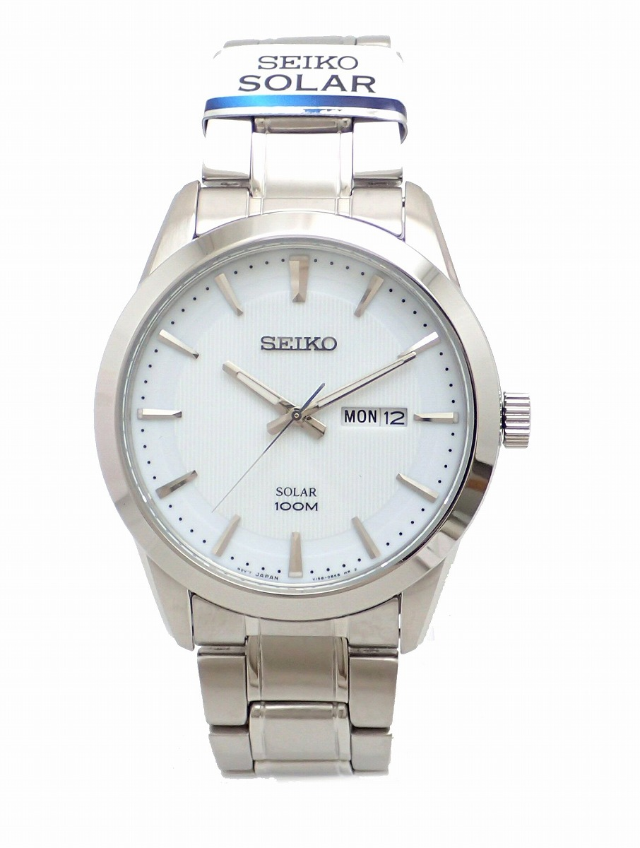【新品未使用品】【ウォッチ】SEIKO セイコー ソーラー メンズ QZ クォーツ 腕時計 SNE359P1 V158-0AS0【k】