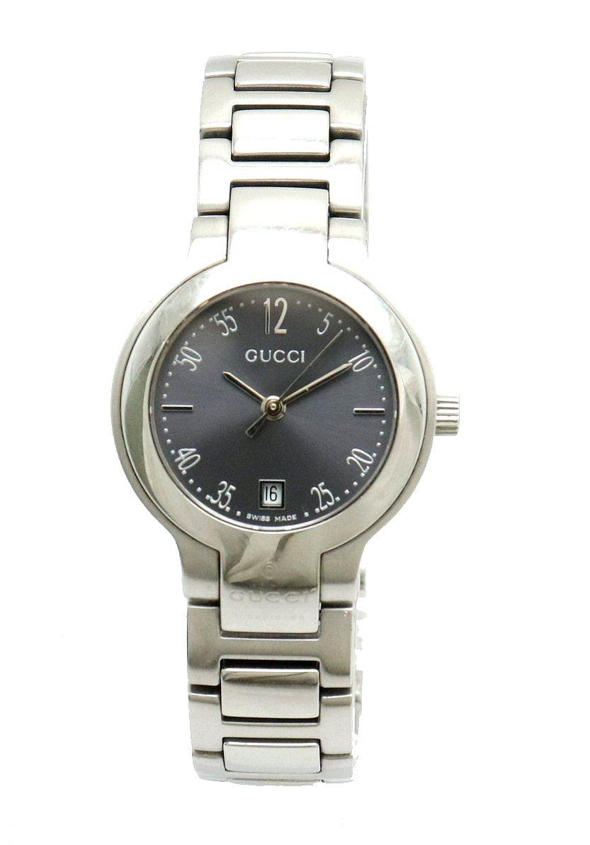 【ウォッチ】GUCCI グッチ デイト グレー文字盤 レディース SS QZ クォーツ 腕時計 8900L 【中古】【k】