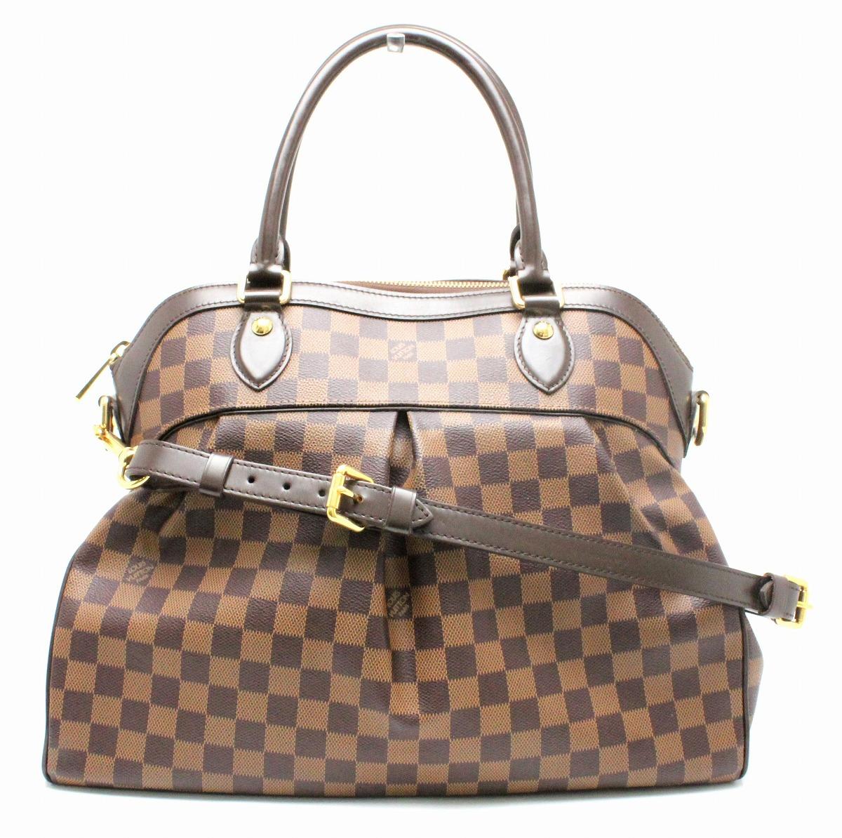 【バッグ】LOUIS VUITTON ルイ ヴィトン ダミエ トレヴィGM ハンドバッグ 2WAYショルダーバッグ セミショルダー N51998 【中古】【k】