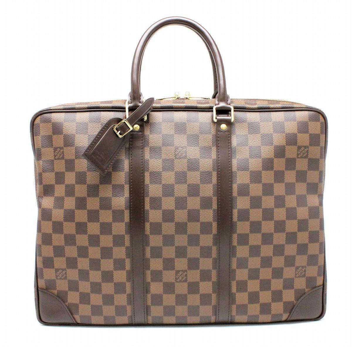 【バッグ】LOUIS VUITTON ルイ ヴィトン ダミエ ポルトドキュマン ヴォワヤージュ ビジネスバッグ 書類カバン ブリーフケース ベタなし N41124 【中古】【k】