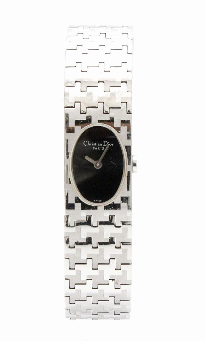 【ウォッチ クリスチャン】 Christian Dior クリスチャン ディオール ミスディオール ブラック文字盤 Dior 腕時計 SS レディース クォーツ 腕時計 D70-100【中古】【k】, かめちゃん米:3557a9e4 --- kutter.pl