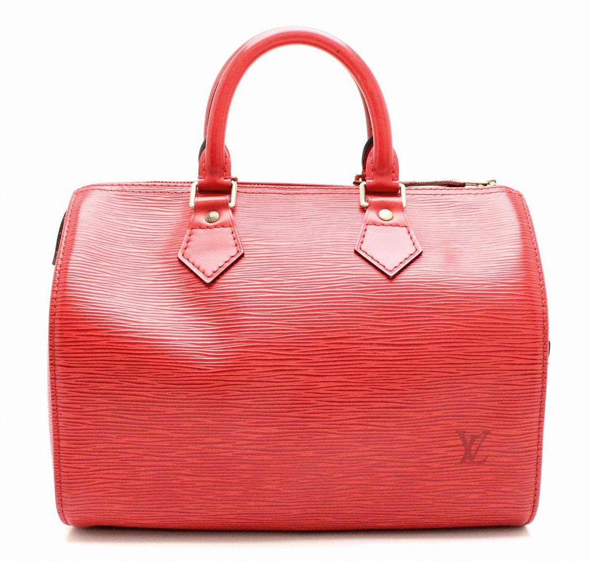 【バッグ】 LOUIS VUITTON ルイ ヴィトン エピ スピーディ30 ハンドバッグ ミニボストンバッグ レザー カスティリアンレッド 赤 M43007 【中古】【k】