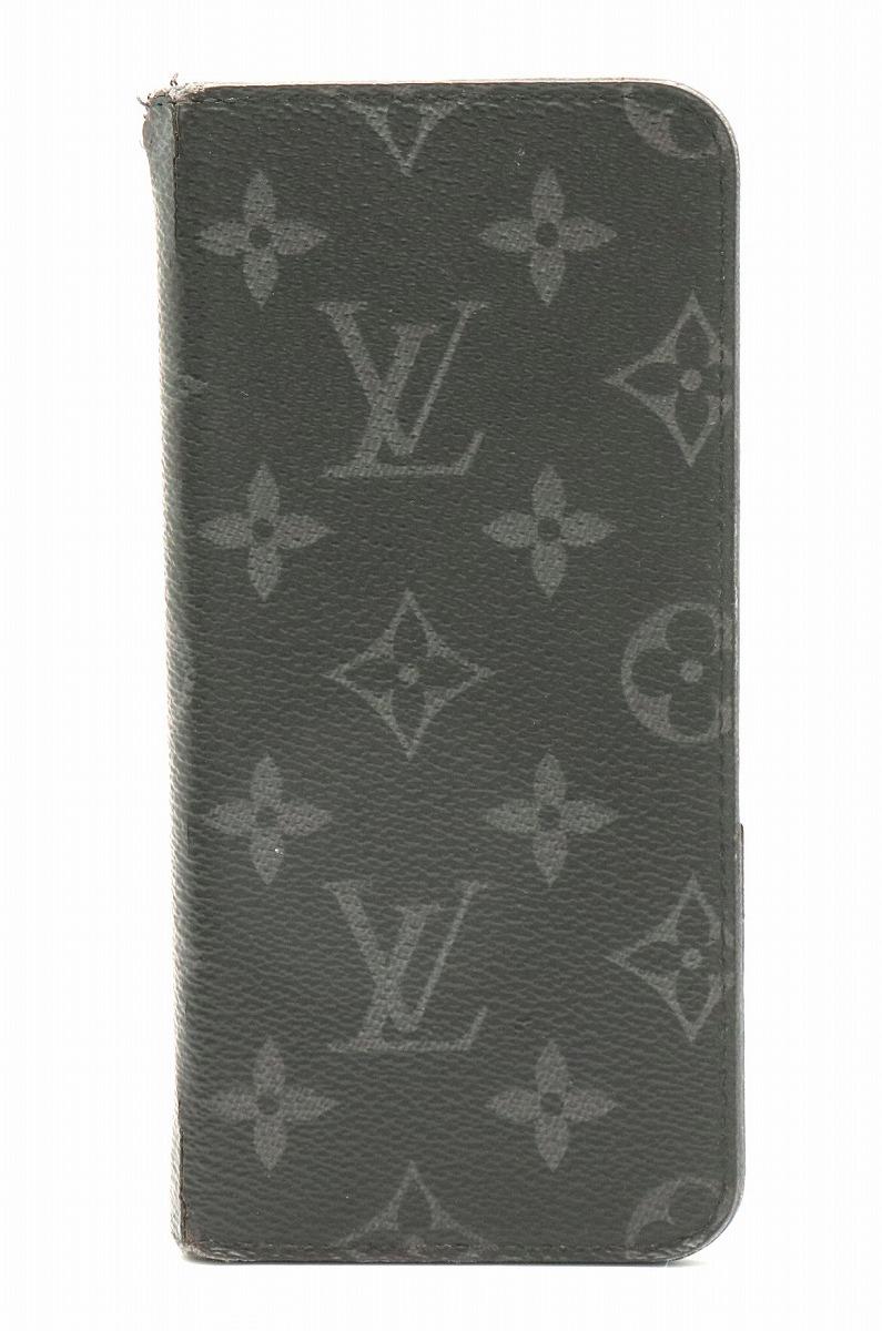 LOUIS VUITTON ルイ ヴィトン モノグラムエクリプス iPhone6plus iPhone 6 plus フォリオ アイフォン6プラス ケース アイフォンケース スマホケース M61700 【中古】【k】
