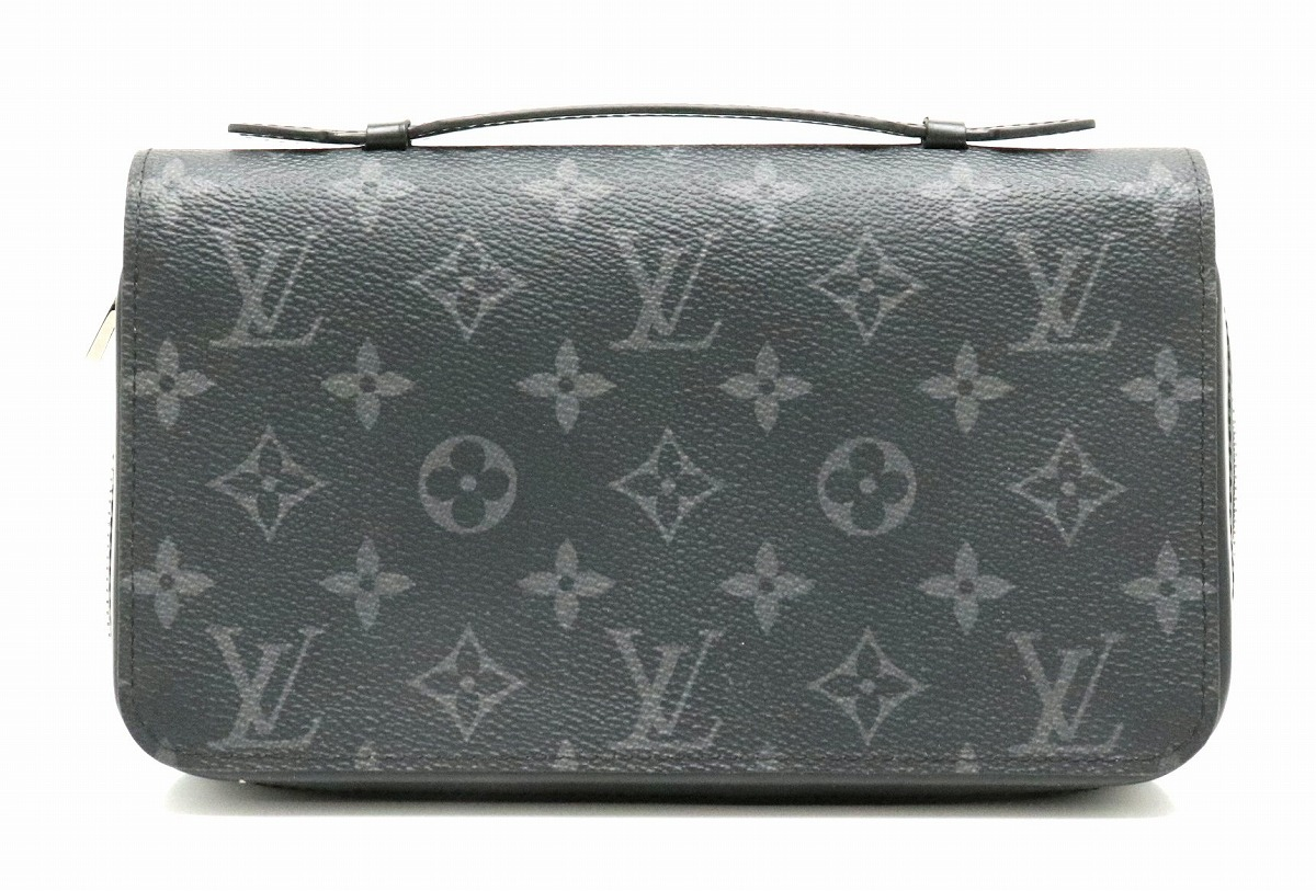 246670d0691e Details about Authentic LOUIS VUITTON Monogram Eclipse Zippy XL Wallet  Clutch Bag M61698 RankA