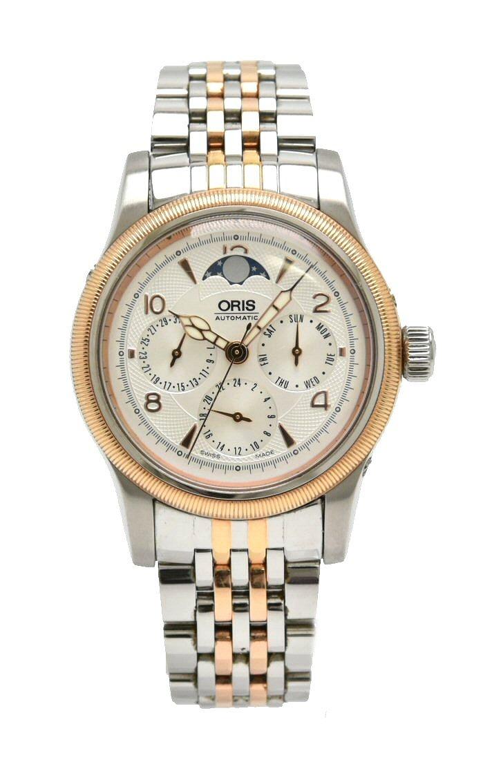 【ウォッチ】 ORIS オリス ビッグクラウン コンプリケーション 2004 ムーンフェイズ メンズ 腕時計 01 581 7566 4361 【中古】【k】