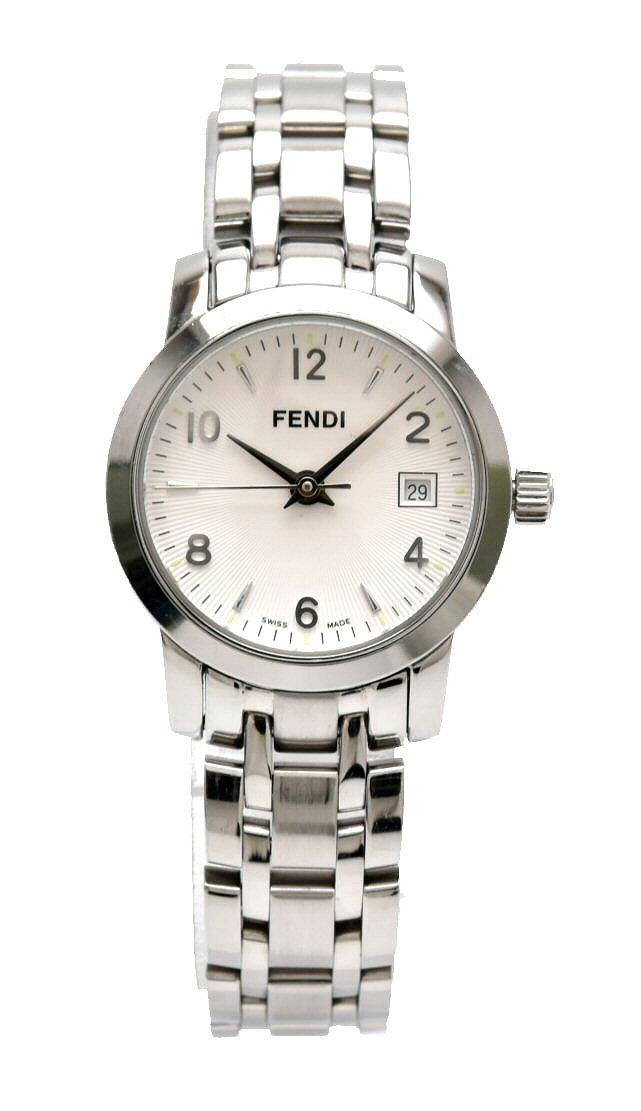 【ウォッチ】FENDI フェンディ クラシコ 白文字盤 SS レディース QZ クォーツ 腕時計 2100L 【中古】【k】