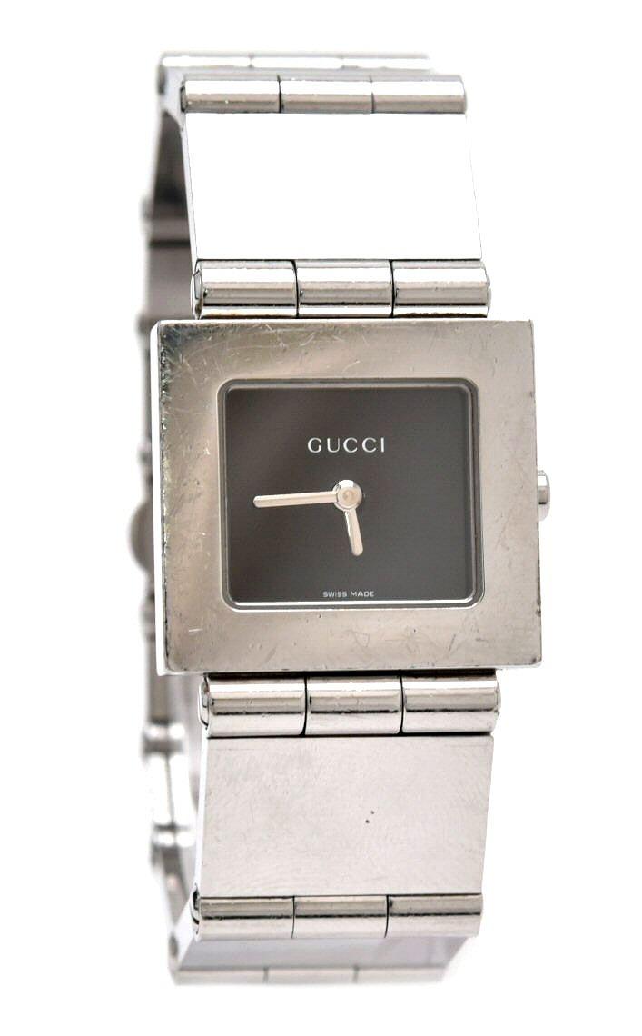 【ウォッチ】GUCCI グッチ スクエア シルバー文字盤 ボーイズ レディース クォーツ 腕時計 600J 【中古】【k】