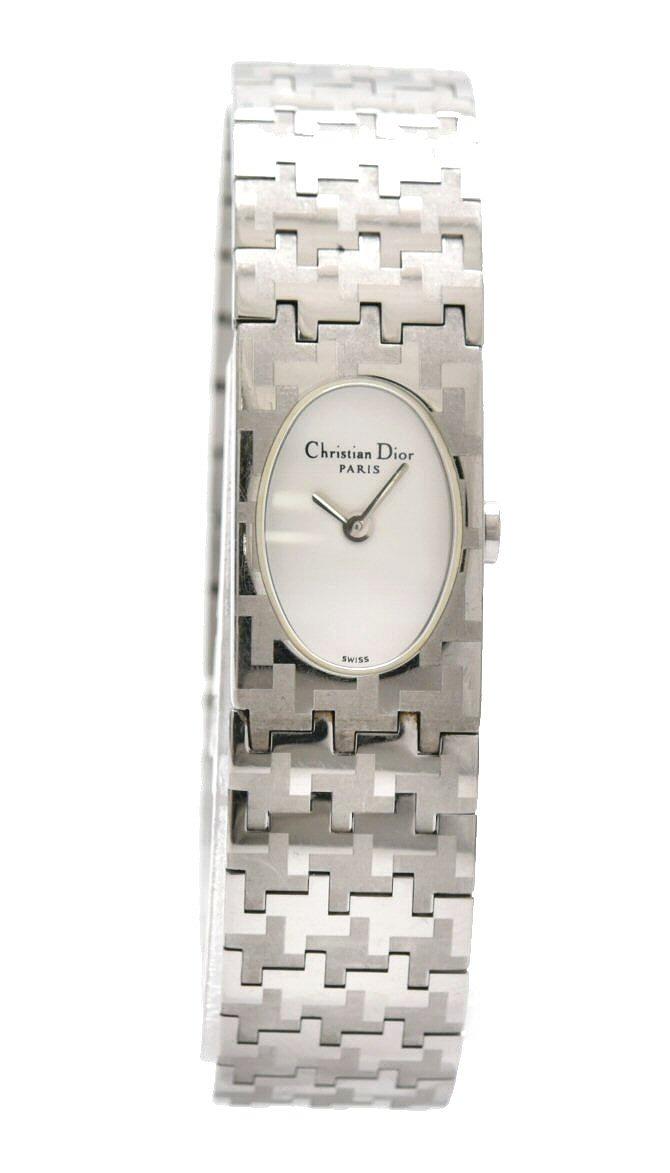 【ウォッチ】Christian Dior クリスチャン ディオール ミスディオール ホワイト文字盤 SS レディース クォーツ 腕時計 D70-100 【中古】【k】