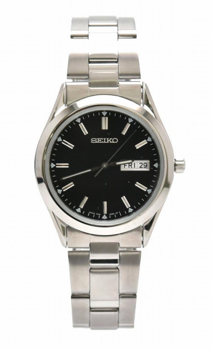 【ウォッチ】SEIKO セイコー スピリット デイデイト ブラック文字盤 SS メンズ クォーツ 腕時計7N43-9080 SCDC085 【中古】【k】