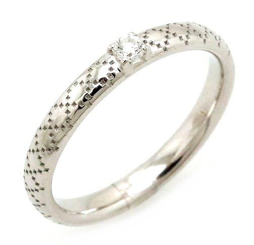 【ジュエリー】【新品仕上げ済】GUCCI グッチ ディアマン ティッシマ リング 指輪 K18WG 750WG ホワイトゴールド ダイヤモンド 1Pダイヤ 10号 #10 284919 J8540 9066 【中古】【k】