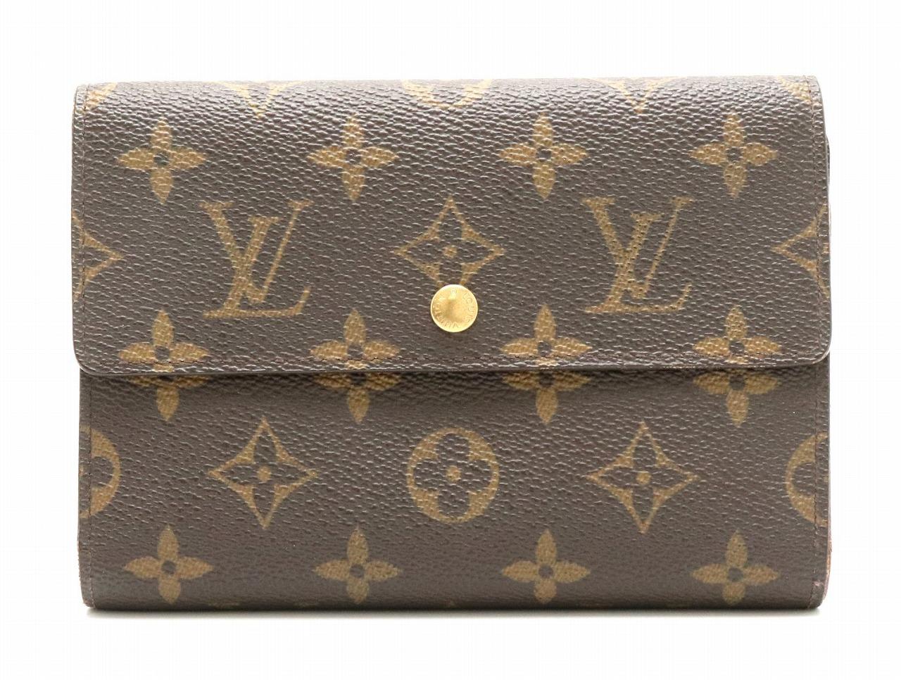 【財布】LOUIS VUITTON ルイ ヴィトン モノグラム ポルトトレゾール エテュイ パピエ 3つ折財布 証明書ケースなし M61202 【中古】【k】