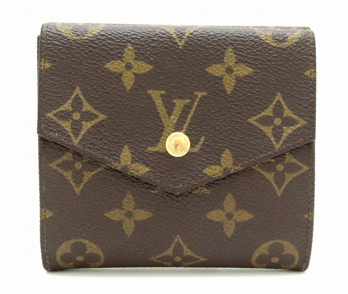 【財布】LOUIS VUITTON ルイ ヴィトン モノグラム ダブルホック財布 Wホック財布 M61660 【中古】【k】