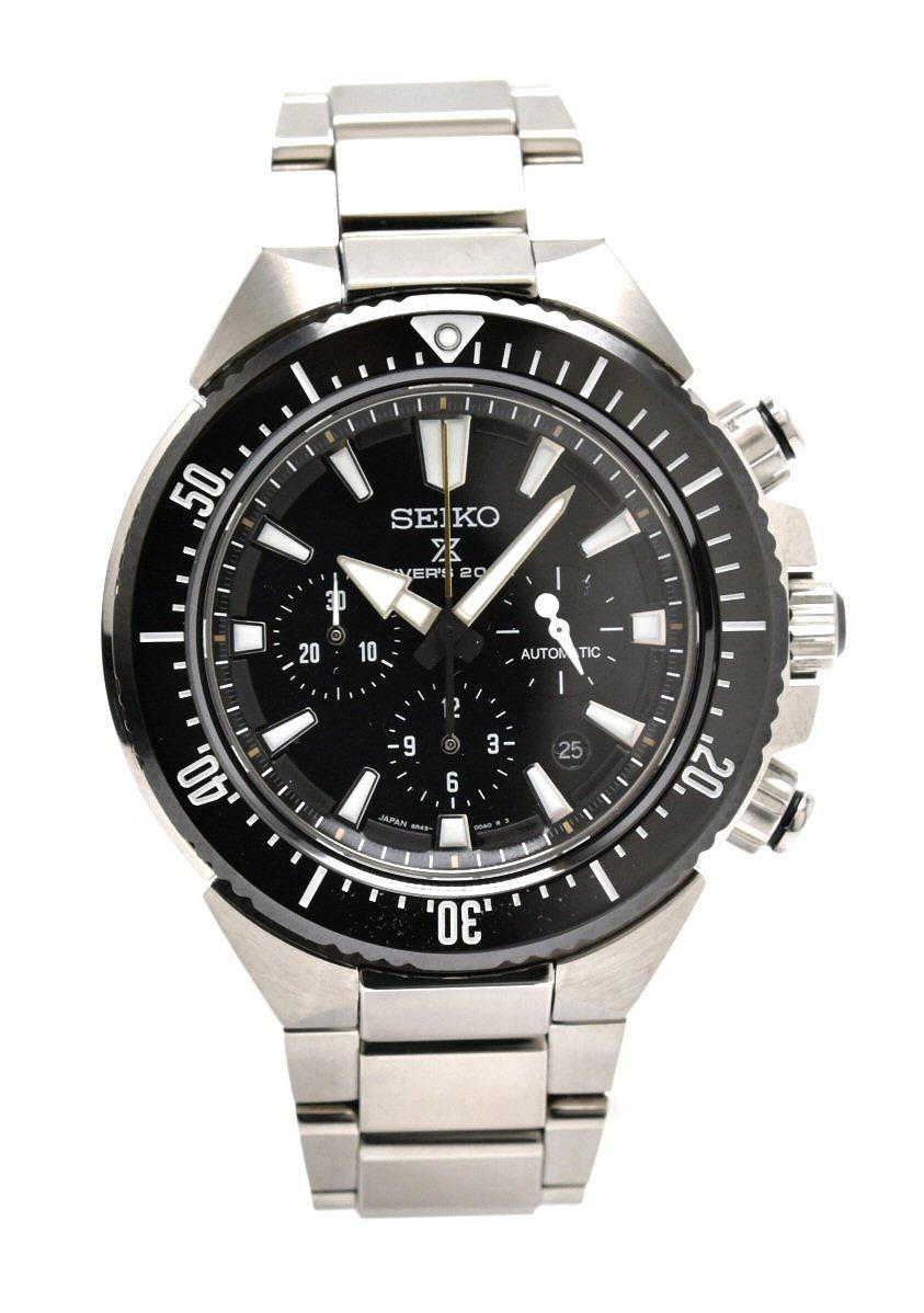【ウォッチ】SEIKO セイコー PROSPEX プロスペックス トランスオーシャン クロノグラフ 200m ダイバーズ メンズ AT オートマ 腕時計 SBEC001 8R49-00A0 【中古】【k】