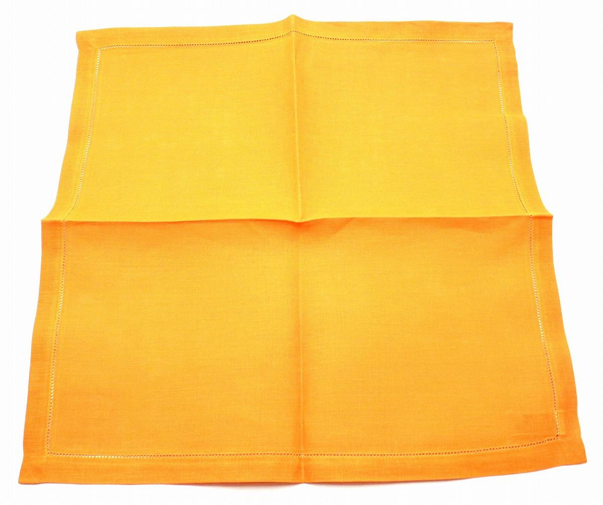 【未使用品】HERMES エルメス テーブルウェア ランチョンマット ランチクロス リネン100% 麻 オレンジ 5枚セット 【中古】【Blumin/森田質店】【質屋出品】【s】