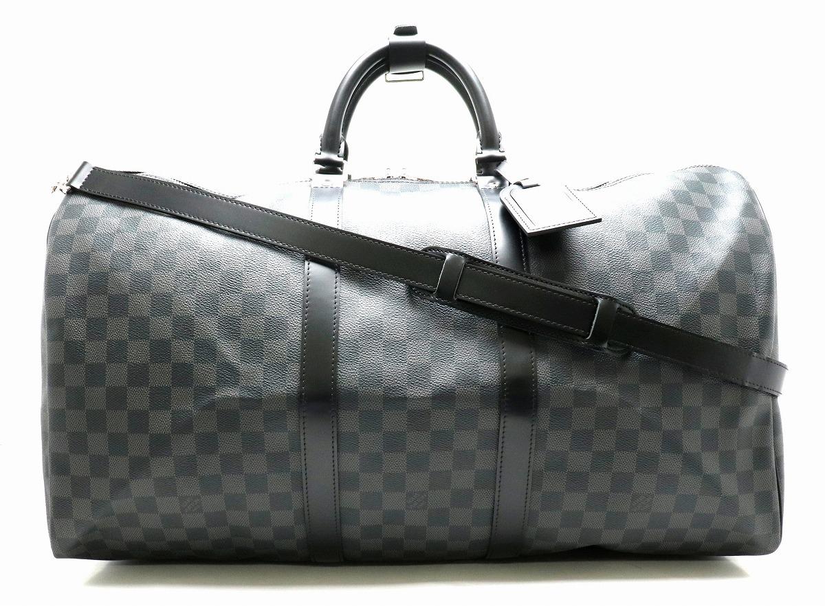 【バッグ】LOUIS VUITTON ルイ ヴィトン ダミエグラフィット キーポルバンドリエール55 ボストンバッグ 旅行カバン トラベルバッグ N41413 【中古】【k】