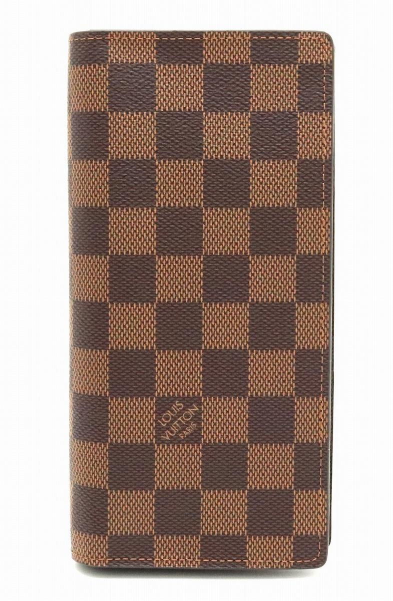 【未使用品】【財布】LOUIS VUITTON ルイ ヴィトン ダミエ ポルトフォイユ ブラザ 2つ折長財布 N60017 【中古】【s】
