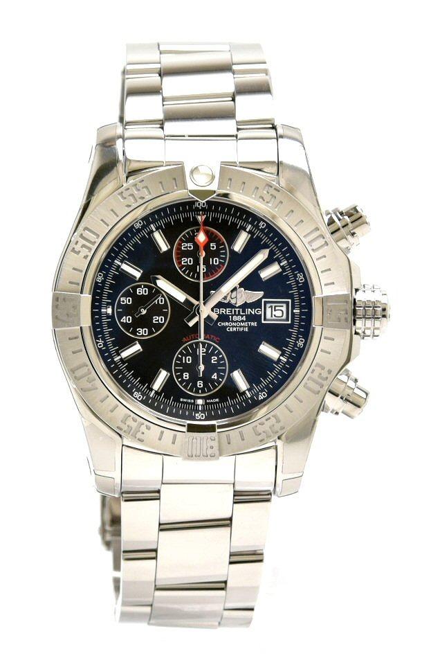 【ウォッチ】【新品仕上げ済】BREITLING ブライトリング アベンジャーII アベンジャー2 クロノグラフ デイト メンズ AT オートマ 腕時計 A13381 A1338111 BC32 【中古】
