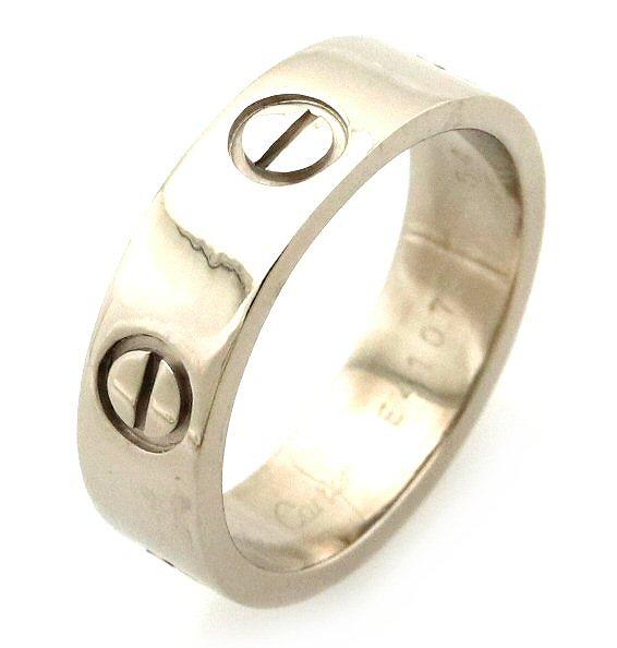 【ジュエリー】【新品仕上げ済】Cartier カルティエ ラブリング 指輪 ウエディングリング K18WG 750WG ホワイトゴールド 14号 #54 【中古】【k】