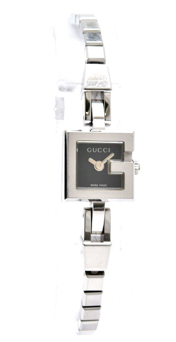 【ウォッチ】GUCCI グッチ Gロゴ Gミニ ブラック文字盤 SS レディース クォーツ 腕時計 102 【中古】【s】