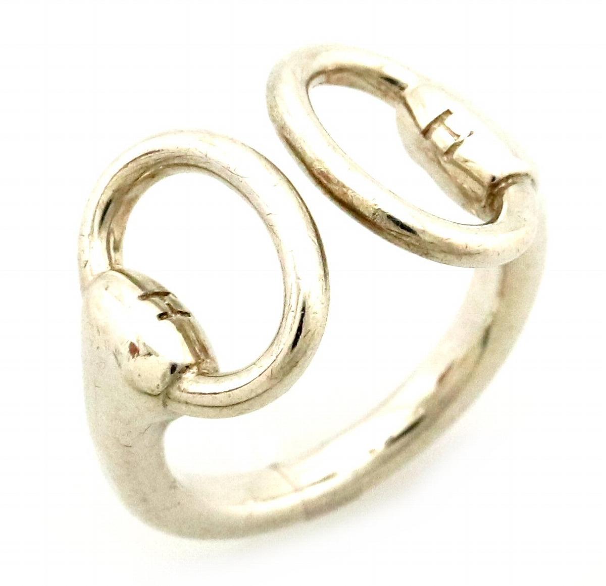 【ジュエリー】HERMES エルメス カリヌ シルバーリング 指輪 SV925 Ag925 #51 11号 【中古】【s】