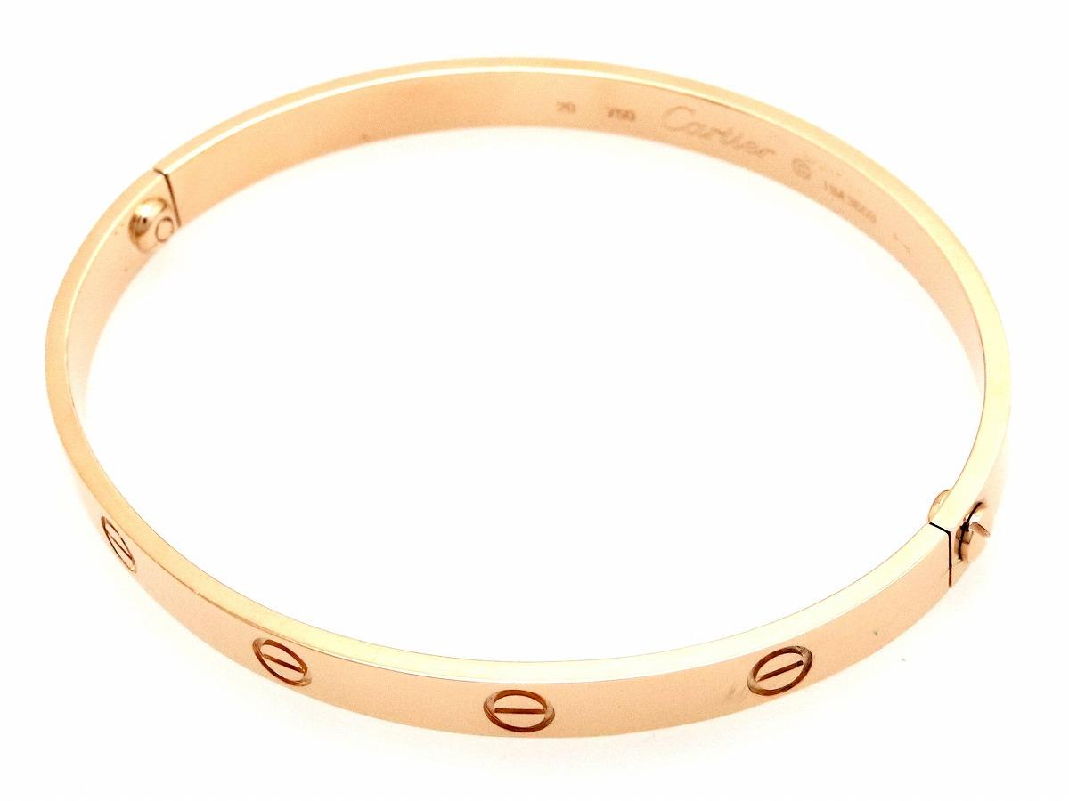 【ジュエリー】【新品仕上げ済】Cartier カルティエ ラブブレス K18PG ピンクゴールド ブレスレット バングル #20 20号 B6035620 大きい 【中古】