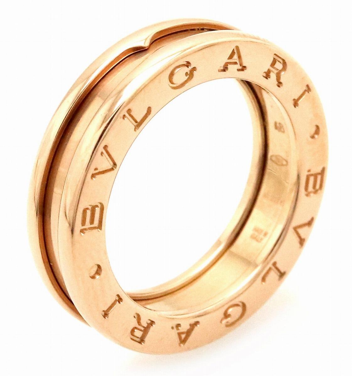 【ジュエリー】【新品仕上げ済】BVLGARI ブルガリ B.zero1 B-zero1 Bzero1 ビーゼロワン 1バンドリング 指輪 K18PG ピンクゴールド XSサイズ 8号 #48 AN852422 【中古】