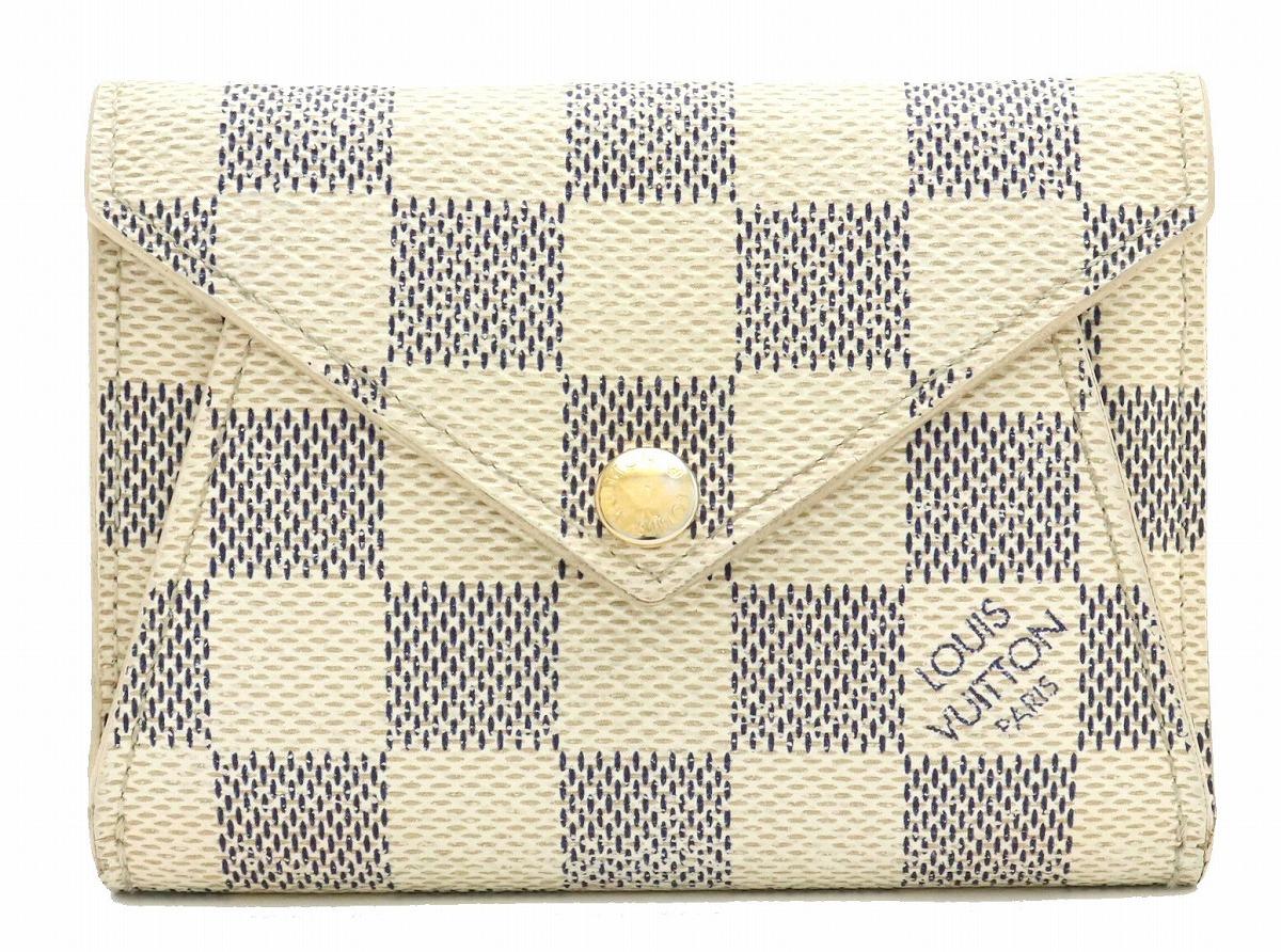 【財布】LOUIS VUITTON ルイ ヴィトン ダミエ アズール ポルトフォイユ オリガミ コンパクト 2つ折財布 N63100 【中古】