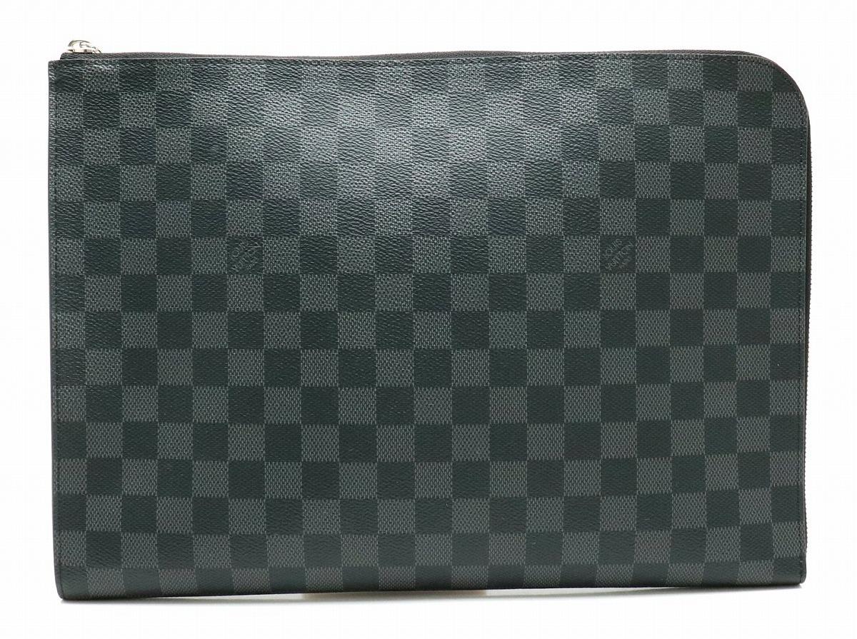 【バッグ】LOUIS VUITTON ルイ ヴィトン ダミエグラフィット ポシェットジュールGM NM クラッチバッグ セカンドバッグ ハンドバッグ N64437 【中古】