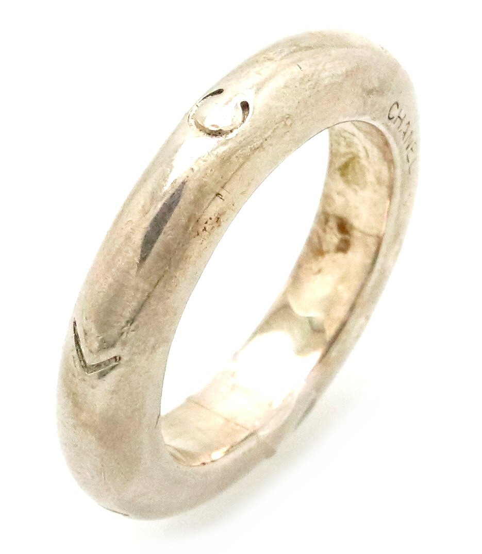 【ジュエリー】CHANEL シャネル ロゴ リング 指輪 SV925 シルバー #13 13号 【中古】