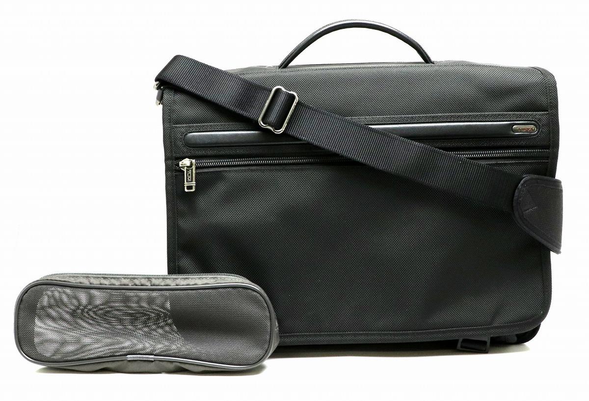 【バッグ】TUMI トゥミ アルファ ラージ エキスパンダブル ビジネスバッグ ブリーフケース 書類カバン ナイロン レザー 黒 ブラック 26171D4 【中古】