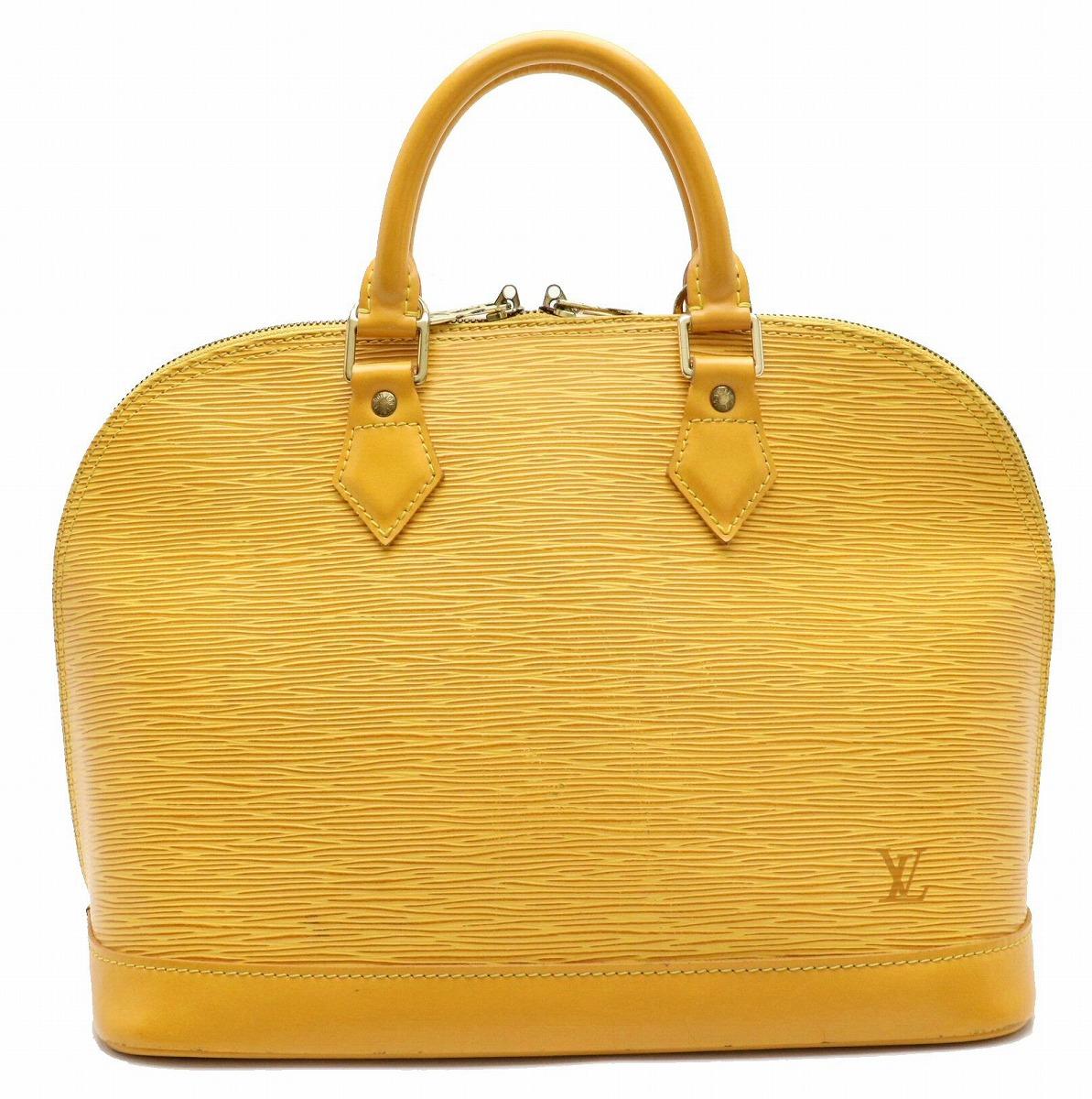 【バッグ】LOUIS VUITTON ルイ ヴィトン エピ アルマ ハンドバッグ 黄色 タッシリイエロー M52149 【中古】