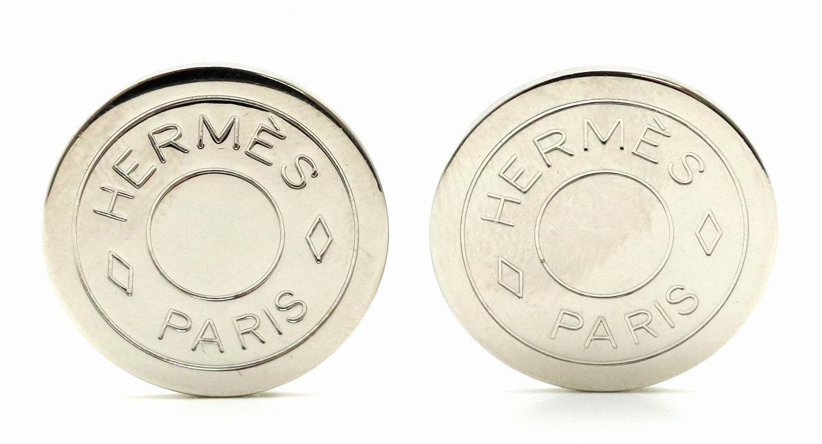 【ジュエリー】HERMES エルメス セリエ イヤリング シルバー色 メタル 【中古】