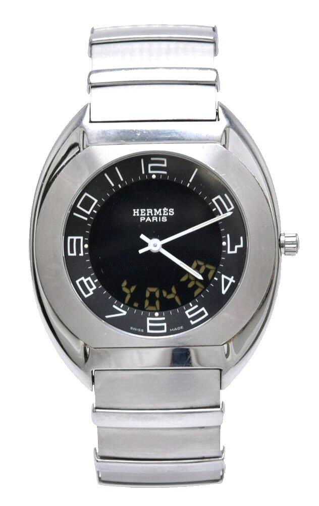 【ウォッチ】【新品同様】HERMES エルメス エスパス デジタル アナログ SS メンズ クォーツ 腕時計 ES1.710 【中古】